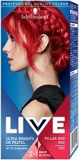 Schwarzkopf Live Ultra Brights Or Pastel - Полу-трайна крем боя за коса в ярки цветове - четка