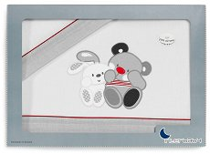 Спален комплект за бебешка количка - Приятели - От 3 части за матрак с размери 40 x 80 cm -