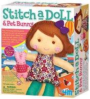 """Уший сама - Кукла със зайче - Творчески комплект от серията """"Girl Craft"""" - играчка"""