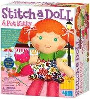 Уший сама - Кукла с коте - творчески комплект