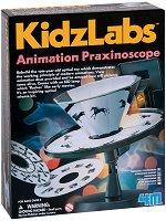 """Направи сам уред за анимация - Детски образователен комплект от серията """"Kidz Labs"""" - творчески комплект"""