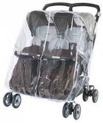 Дъждобран за близнаци - Аксесоар за детска количка -