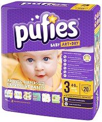 Pufies Baby Art & Dry 3 - Midi - Пелени за еднократна употреба за бебета с тегло от 4 до 9 kg - продукт