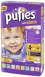 Pufies Baby Art & Dry 4+ Maxi - Пелени за еднократна употреба за бебета с тегло от 9 до 16 kg -