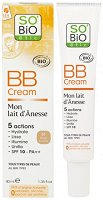 "SO BiO Etic Mon Lait d'Anesse BB Cream - SPF 10 - BB крем за лице с магарешко мляко от серията ""Mon Lait d'Anesse"" -"