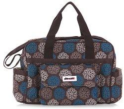 Чанта - Luxe: Flowers - Аксесоар за детска количка с подложка за преповиване -