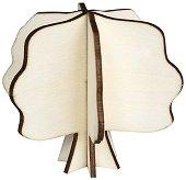 Сглобяема фигурка от шперплат - Дърво - Предмет за декориране с размери 9.5 x 8 cm