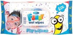 Детски мокри кърпички - Funny - Опаковка от 72 броя за момчета -