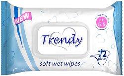 Trendy Soft Wet Wipes - Опаковка от 72 броя мокри кърпички без алкохол - продукт
