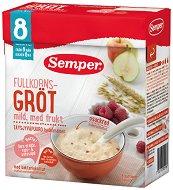 Инстантна млечна пълнозърнеста каша - Круша, ябълка и малина - Опаковка от 480 g за бебета над 8 месеца - продукт