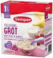 Инстантна млечна пълнозърнеста каша - Банани, малини и йогурт - Опаковка от 470 g за бебета над 18 месеца -
