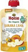 Holle - Био забавна плодова закуска с банан, ябълка, манго и кайсия - пюре