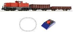 Товарен влак с дизелов локомотив BR 290 - DB - Аналогов стартов комплект с релси и дистанционно управление -