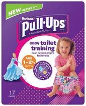 Huggies Pull Ups Girl M - Преходни гащички за еднократна употреба за деца с тегло от 10 до 18 kg - творчески комплект