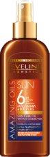 "Eveline Amazing Oils Sun Care with Tan Accelerator Spray - Слънцезащитно олио с ускорител за тен от серията ""Sun Care"" - продукт"