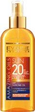 """Eveline Amazing Oils Sun Dry Suncare Oil - Слънцезащитно сухо олио за тяло с макадамия и кукуи от серията """"Sun Care"""" -"""