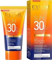 """Eveline Sun Antyleuskine Complex Hyaluronic Acid Face Creаm - Слънцезащитен крем за лице с хиалуронова киселина от серията """"Sun Care"""" -"""