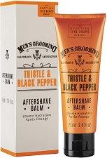 """Scottish Fine Soaps Men's Grooming Thistle & Black Pepper Aftershave Balm - Балсам за след бръснене с бял трън и черен пипер от серията """"Men's Grooming"""" - продукт"""