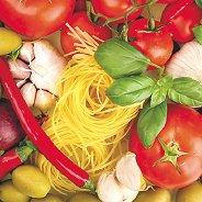 Салфетки за декупаж - Спагети и зеленчуци