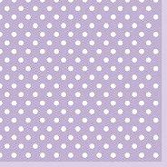 Салфетки за декупаж - Точки на лилав фон - Пакет от 20 броя