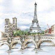 Салфетки за декупаж - Париж - Пакет от 20 броя