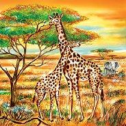 Салфетки за декупаж - Жирафи - Пакет от 20 броя