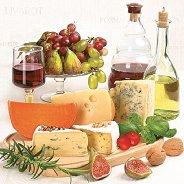 Салфетки за декупаж - Сирена и плодове - Пакет от 20 броя