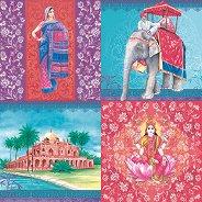Салфетки за декупаж - Индия - Пакет от 20 броя