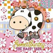 Салфетки за декупаж - Крава и цветенца