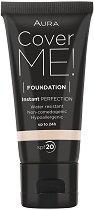 Aura Cover Me Foundation - SPF 20 - Дълготраен фон дьо тен с матиращ ефект - продукт