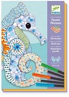 Оцветявай сам - Животни - Творчески комплект за рисуване - играчка