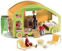 Каравана за кукли - Детски комплект с аксесоари -