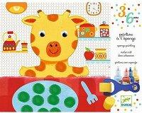Оцветявай сам с гъба и валяк - Животни - Творчески комплект за рисуване - играчка