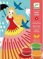 Оцветявай с цветен пясък - Момичета - Творчески комплект за рисуване - играчка