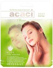 """Chamos Acaci Aloe Facial Mask - Подмладяваща и хидратираща маска за лице с алое вера от серията """"Acaci"""" - несесер"""