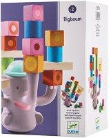 Слонче - Детска дървена играчка за баланс -