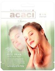 """Chamos Acaci Rice Bran Facial Mask - Интензивна подмладяваща маска за лице с оризови трици от серията """"Acaci"""" - сенки"""