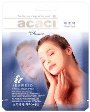 """Chamos Acaci Seaweed Facial Mask - Хидратираща хиалуронова маска за лице с морски водорасли от серията """"Acaci"""" - шампоан"""