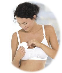Бели памучни подплънки за гърди за многократна употреба - Комплект от 6 броя - продукт