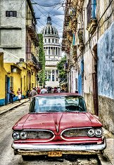 Ретро автомобил в Хавана, Куба -