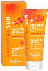 Farmona Sun Face Cream - SPF 50 - Слънцезащитен крем за лице за нормална и чувствителна кожа - пудра