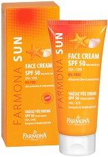 Farmona Sun Face Cream - SPF 50 - Слънцезащитен крем за лице за мазна и смесена кожа -