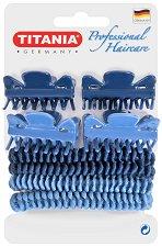 """Аксесоари за коса - Комплект от 4 щипки и 4 ластика за коса от серията """"Hair Care"""" -"""