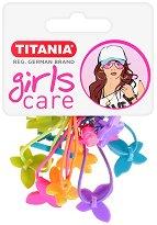 """Ластици за коса с пеперуди - Комплект от 5 броя от серията """"Girls Care"""" - продукт"""