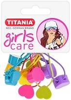 """Ластици за коса със сърчица - Комплект от 5 броя от серията """"Girls Care"""" -"""