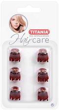 """Щипки за коса - Комплект от 6 броя от серията """"Hair Care"""" - четка"""