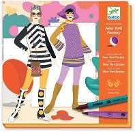 Моден дизайнер - Творчески комплект за оцветяване - творчески комплект