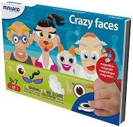 Забавни лица - Детски комплект с магнити -