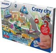 Забавен град - Детски комплект с магнити -