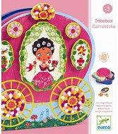 Каляска с принцеси - Творчески комплект с магнити за декориране -